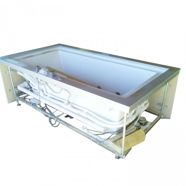 Ariel Platinum AM146 Negative Edge Whirlpool Bathtub