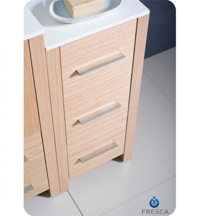 Fresca Torino 36 Light Oak Modern Bathroom Vanity Side Cabinet Ve