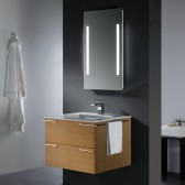 31-inch Single Bathroom Vanity with Mirror and Lighting System